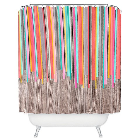 DENY Designs Iveta Abolina Stripe Happy Shower Curtain in