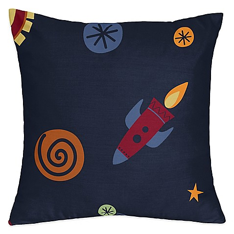 Buy sweet jojo designs space galaxy throw pillow from bed for Space design blanket