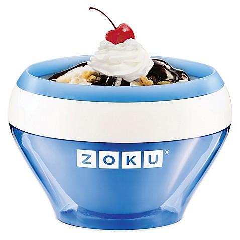 zoku ice cream maker in blue enjoy homemade ice cream frozen custard ...