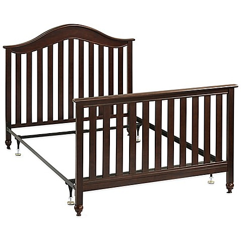 Fisher price twin full size metal bed frame with for Full size footboard