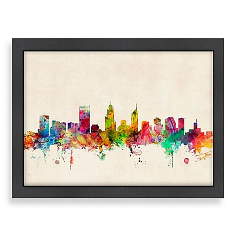 Americanflat Art Pause Perth Colored Panoramic Skyline Wall Bed Bath amp Beyond