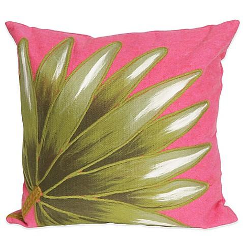 Hot Pink Outdoor Throw Pillows : Liora Manne Palm Fan 20-Inch x 20-Inch Outdoor Throw Pillow in Hot Pink - Bed Bath & Beyond