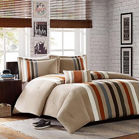 mizone sawyer comforter set in khaki bed bath amp beyond