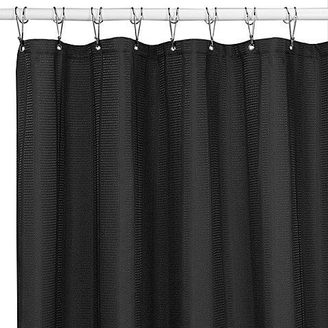 Westerly black 72 inch x 72 inch fabric shower curtain