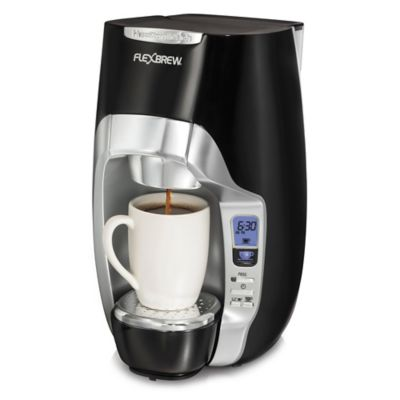 Single Coffee Maker Bed Bath And Beyond : Hamilton Beach FlexBrew Programmable Single-Serve Coffee Maker - Bed Bath & Beyond