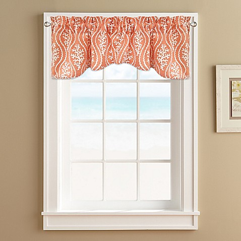 Coral reef window valance bed bath beyond for Window valances for bathrooms