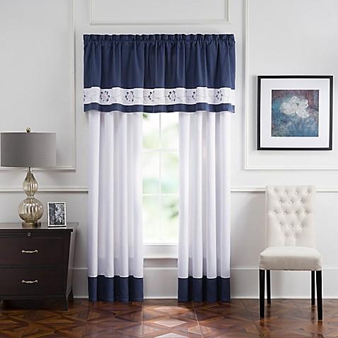 Aloura Embroidered Rod Pocket Window Curtain Panels And