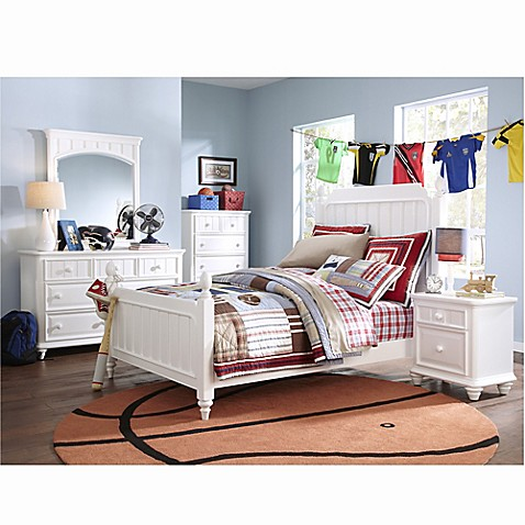 Buy Pulaski Summertime 5 Piece Full Bedroom Set In White
