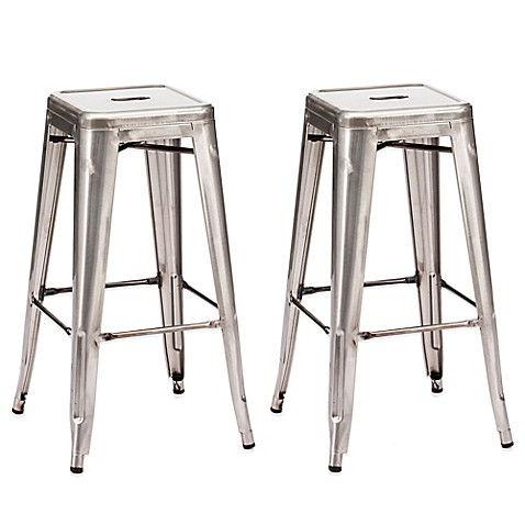 Buy Zuo 174 Marius Barstool In Gunmetal Set Of 2 From Bed