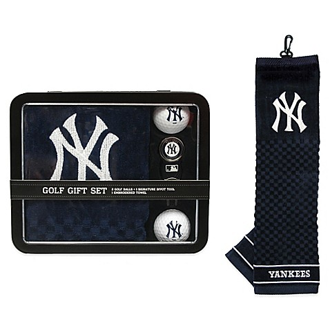 Mlb new york yankees golf ball gift set bed bath beyond for Yankees bathroom decor