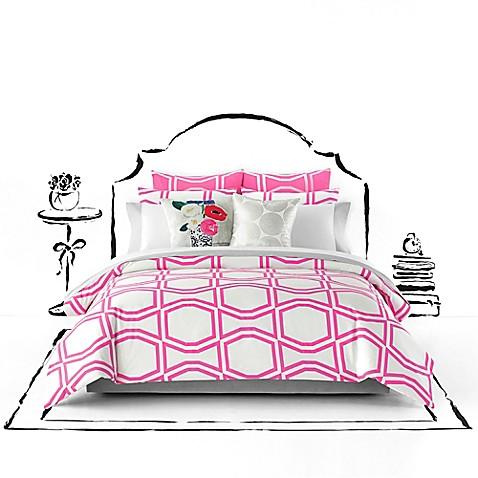 Kate Spade New York Bow Tile Duvet Cover Set Bed Bath