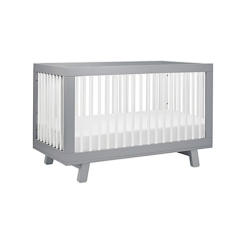 Babyletto Hudson 3 In 1 Convertible Crib In Grey/White by Bed Bath And Beyond