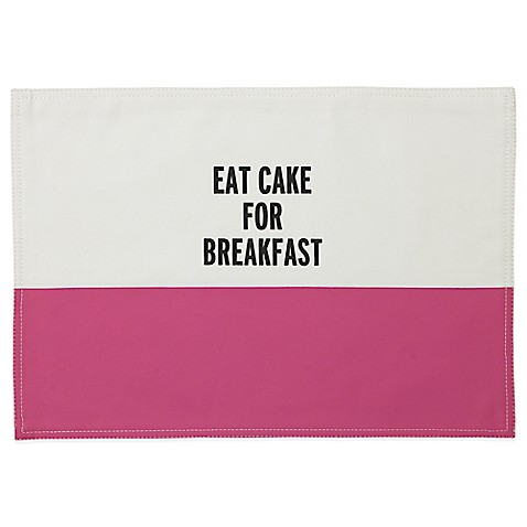 Kate spade new york eat cake for breakfast placemat in for Bed bath and beyond kate spade