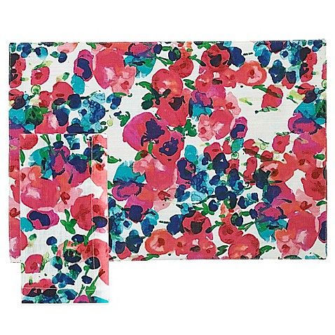 Kate spade new york rosa terrace placemat and napkin bed for Bed bath and beyond kate spade