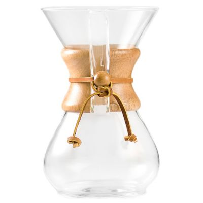 Bodum Pour Over Coffee Maker Bed Bath And Beyond : Chemex 6-Cup Pour Over Coffee Maker - Bed Bath & Beyond