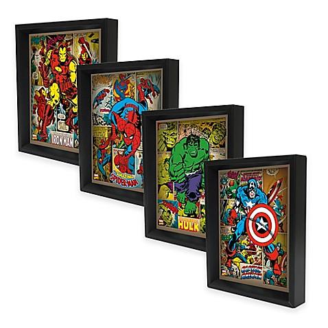 Marvel heroes 3d lenticular wall art collection bed bath beyond - Marvel comics decor ...