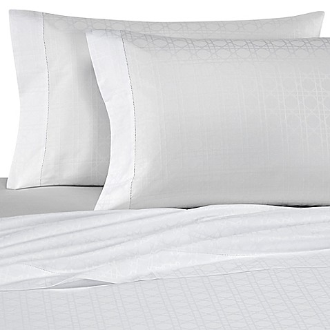 bellino fine linens viennese netting jacquard cotton flat