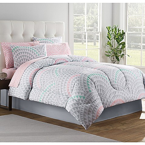 Alexa comforter set in grey bed bath beyond - Bed bath and beyond bedroom furniture ...