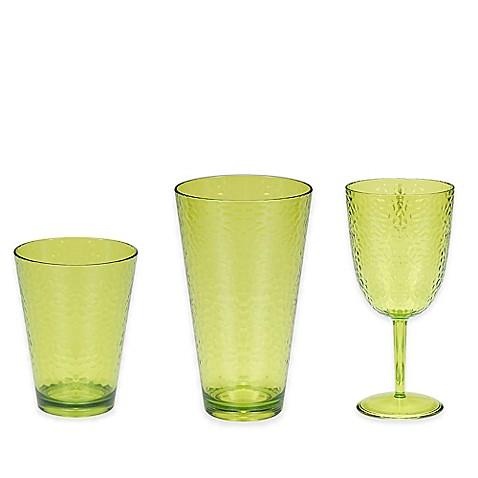 certified international acrylic hammered glass drinkware
