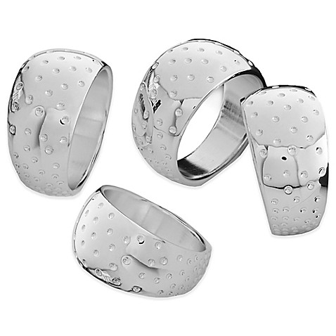 Nambe Dazzle Napkin Rings (Set of 4) at Bed Bath & Beyond in Cypress, TX | Tuggl