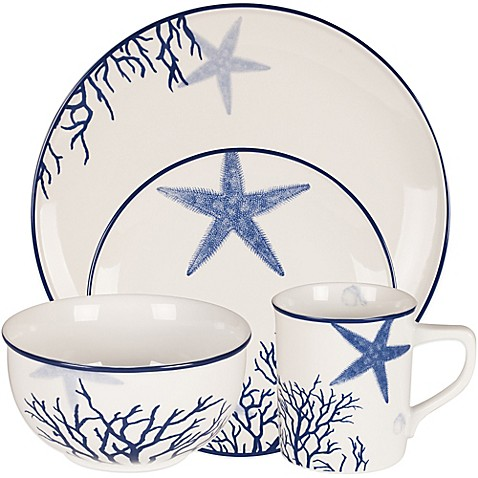 Everyday White® by Fitz and Floyd® Coastal Starfish & Coral Dinnerware Collection at Bed Bath & Beyond in Cypress, TX | Tuggl
