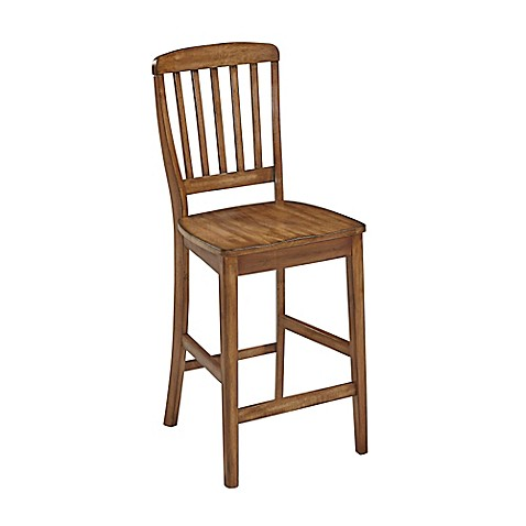 Home Styles Vintner Bar Stool In Warm Oak Bed Bath Beyond