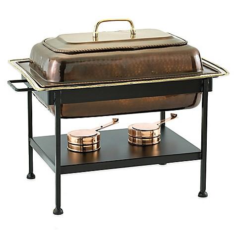 old dutch international 8 qt rectangular chafing dish in antique copper bed bath beyond. Black Bedroom Furniture Sets. Home Design Ideas