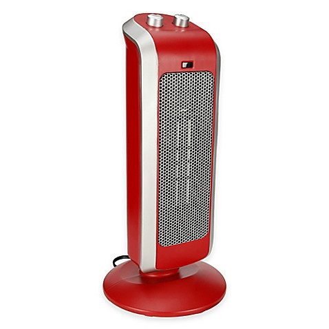 Buy Crane Ceramic Tower Heater In Red From Bed Bath Beyond