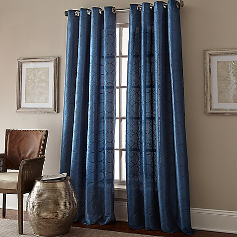Manhattan Grommet Top Embroidered Window Curtain Panel at Bed Bath & Beyond in Cypress, TX | Tuggl