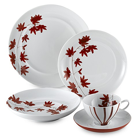 Mikasa pure red dinnerware collection bed bath beyond for Mikasa china
