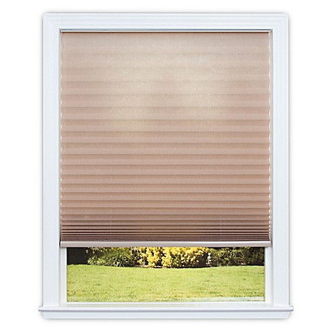 Redi Shade Easy Lift Cordless Pleated 64-Inch Length Soft-Spun Shade at Bed Bath & Beyond in Cypress, TX | Tuggl