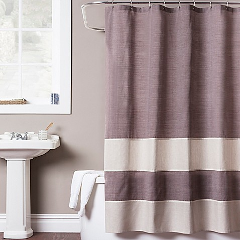 structure shower curtain bed bath amp beyond hookless jacquard tree branch shower curtain in taupe