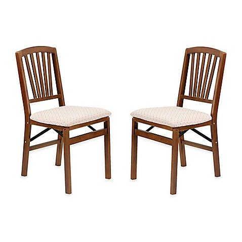 stakmore slat back wood folding chairs set of 2 bed