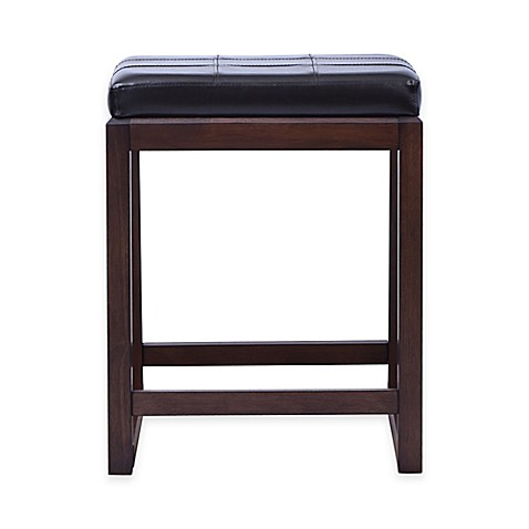 Beacon Saddle Stools In Dark Brown Bed Bath Amp Beyond