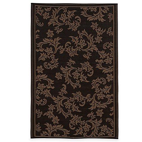 fab habitat versailles indoor outdoor rug in chocolate brown tan bed bath beyond. Black Bedroom Furniture Sets. Home Design Ideas