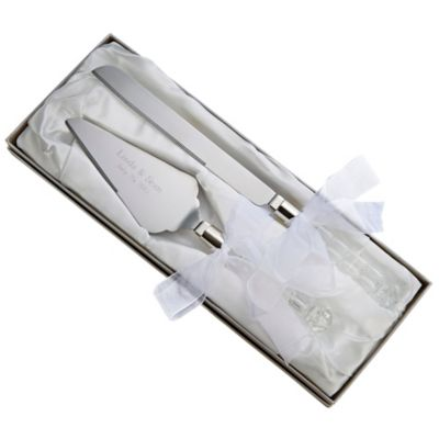 Cake Decorating Kit Bed Bath Beyond : Paris Crystal Cake Knife and Server Set - Bed Bath & Beyond