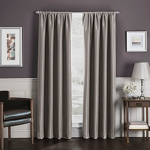 Sebastian Rod Pocket Insulated Total Blackout™ Window Curtain Panel at Bed Bath & Beyond in Cypress, TX | Tuggl