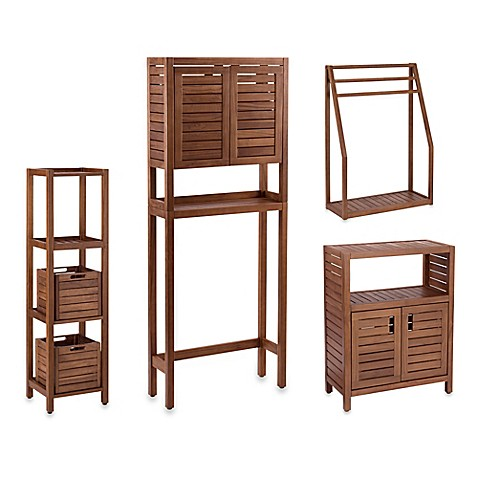 Stained Teak Bathroom Furniture in Brown at Bed Bath & Beyond in Cypress, TX | Tuggl