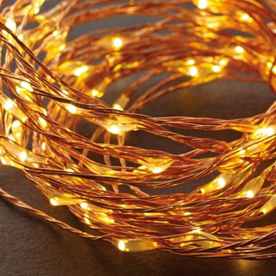 String Lights On Bed : LED String Lights in Warm White/Copper - Bed Bath & Beyond