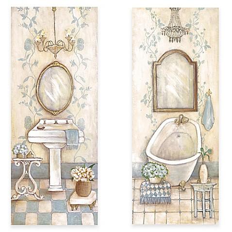 antique blue bath canvas wall art collection bed bath. Black Bedroom Furniture Sets. Home Design Ideas