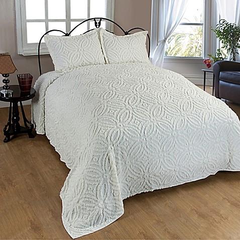 Buy Wedding Ring Chenille Standard Pillow Sham In Ivory