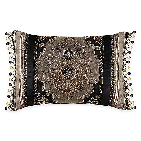 Black Throw Pillows Bed Bath And Beyond : J. Queen New York Bradshaw Black Boudoir Throw Pillow in Black - Bed Bath & Beyond