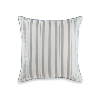 Buy Real Simple Mikayla Square Throw Pillow in Blue/White/Grey from Bed Bath & Beyond