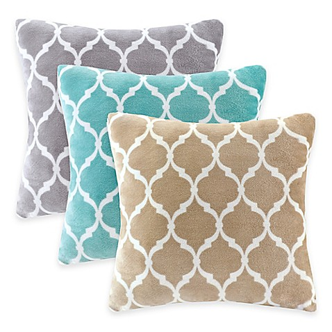 Bed Bath And Beyond Orange Throw Pillows : Madison Park Ogee Reversible Square Throw Pillow - Bed Bath & Beyond