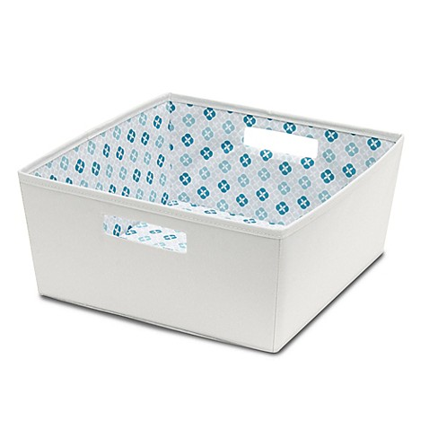 B in fabric half storage bin in grey bed bath beyond for Pink bathroom bin