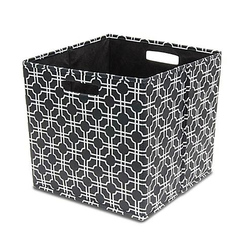 bin® fabric full storage bin in black  bed bath  beyond