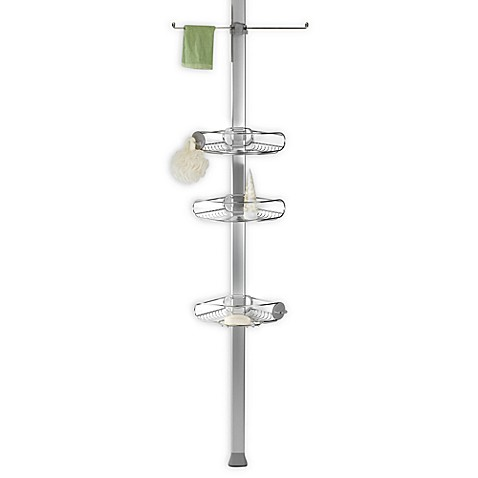 simplehuman® Stainless Steel Tension Shower Caddy at Bed Bath & Beyond in Cypress, TX | Tuggl