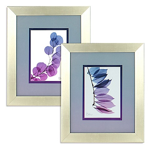 Ombr X Ray Leaf Framed Wall Art In Purple Bed Bath Beyond