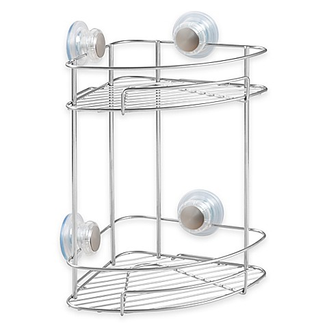 Interdesign Turn N Lock 2 Tier Suction Corner Basket