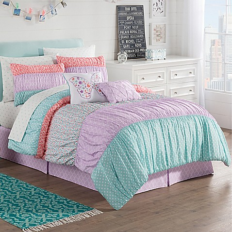 Zoe reversible comforter set in purple bed bath beyond - Bed bath and beyond bedroom furniture ...